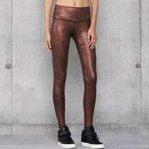 Alo yoga air brushed copper leggings size M
